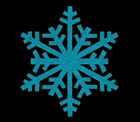 Snowflake icon on blackbackground