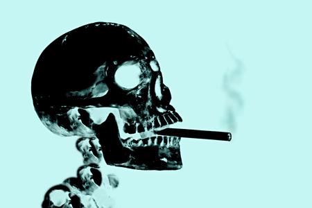 Rauchen tötet oder Rauchen aufhören Konzeptbild mit Röntgenbild x