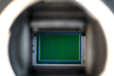 Digital camera sensor on a digital dslr  camera.
