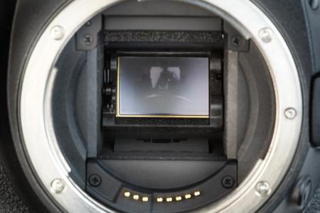 Digital camera mirror on a digital dslr  camera.