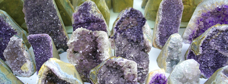 Beautiful natural Amethyst crystals gemstone.