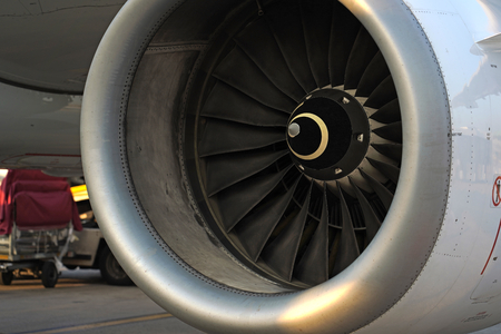 Airplane engine . Standard-Bild