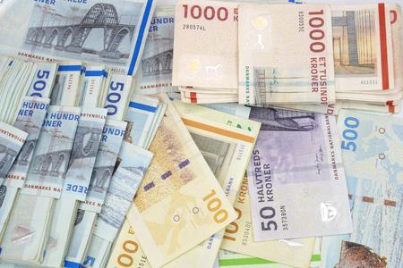 Danish krone banknotes.
