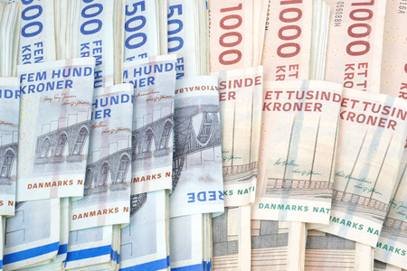 Danish krone . DKK Banknotes