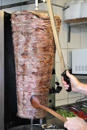 Turkish doner kebab ( shawarma ) Imagens