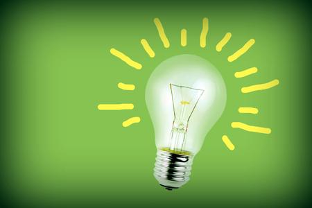 Bulb on green background Standard-Bild - 116930193