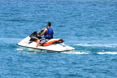 Man on a jet ski Stockfoto