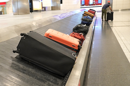 Baggage claim in a airport 写真素材