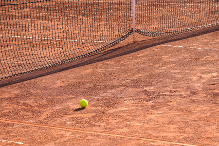 Red clay tennis court 写真素材
