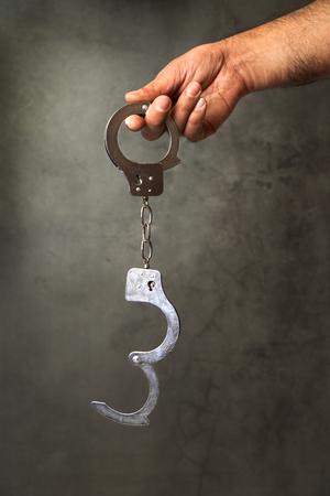 Handcuffs . Conceptual image .