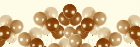 Party balloons with sepia effect image.