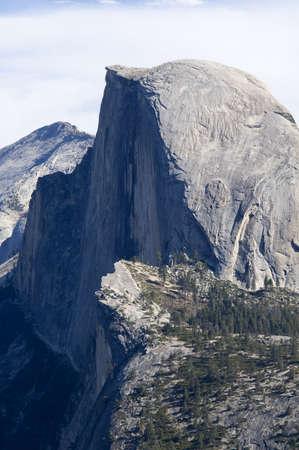 half dome: Close shot of Half Dome in Yosemite National Park, California. Stock Photo