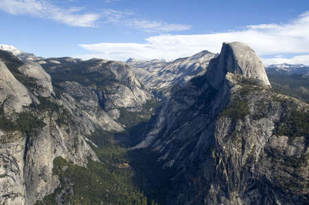 View of Half Dome and Yosemite Valley from Glacier Point, Yosemite National Park, California.