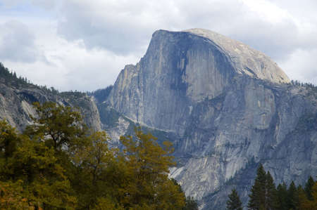 half dome: View of Half Dome from the Yosemite Valley floor.