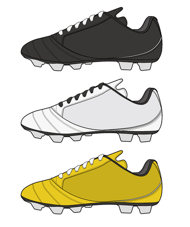 Football shoes fashion vector illustration flat sketches template