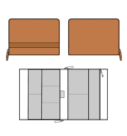 Clutch BAG vector illustration flat sketches Vettoriali