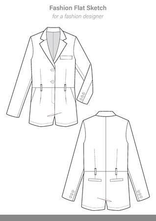 Jacket Template Design Stock Vector