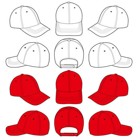 Baseball Cap Hat Fashion Illustration Schematic