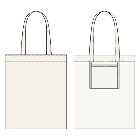 Eco bag bag fashion illustration schematic drawing