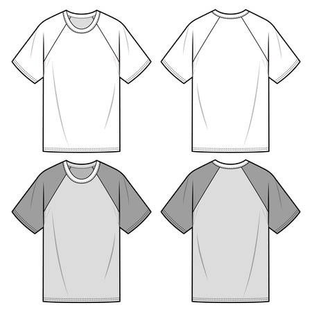 Short sleeve t-shirt fashion illustration schematic drawing