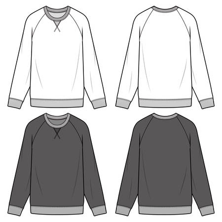 Sweatshirt man to man fashion illustration schematic drawing