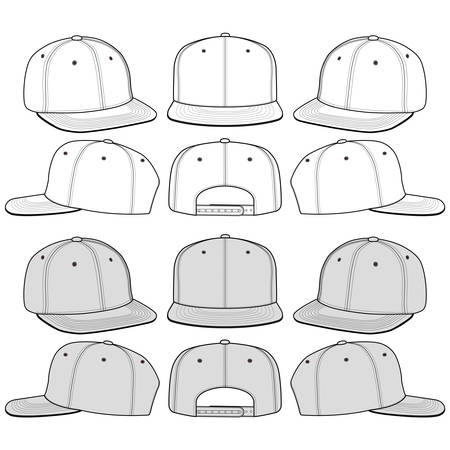 Snapback Hat Fashion Illustration Schematic