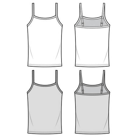 Tank Top Top Fashion Illustration Schematic Illusztráció