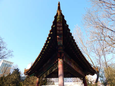 arbour: The Chinese arbour in park of the city of Dalian