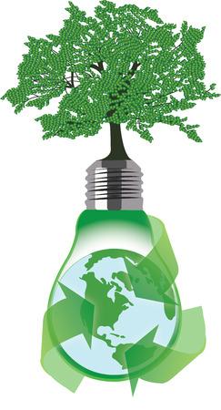 Graphic recycling  Ilustração