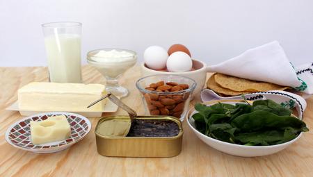 sardines: rich in calcium, milk, salad greens, almonds, sardines Food
