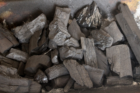 fossil fuel: Coal piled off, black non-renewable resource, fossil fuel