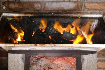 cal: Cal on fire Stock Photo