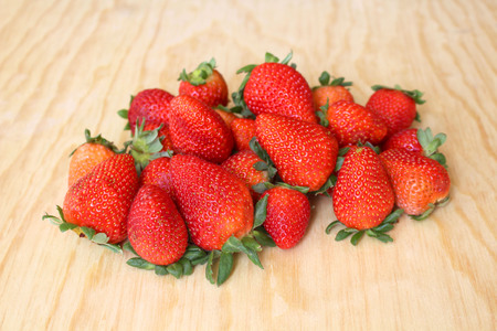 antirheumatic: red and juicy strawberries for export, first quality Stock Photo