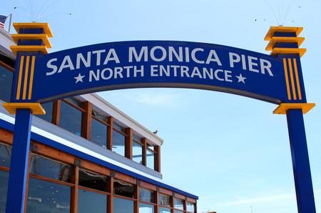 monica: Santa Monica Pier North Entrance, Los Angeles California