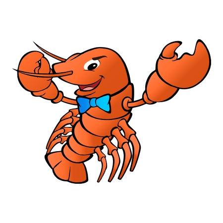 humanistic: cartoon lobster