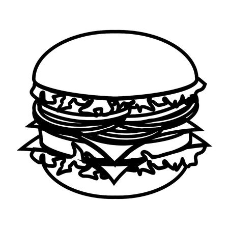 fine dining: transparent burger Illustration