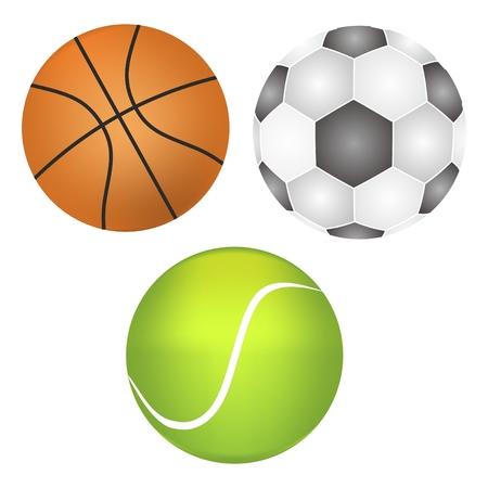 realist: football, basketball, tennis ball