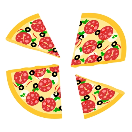 size: different size pizza Illustration