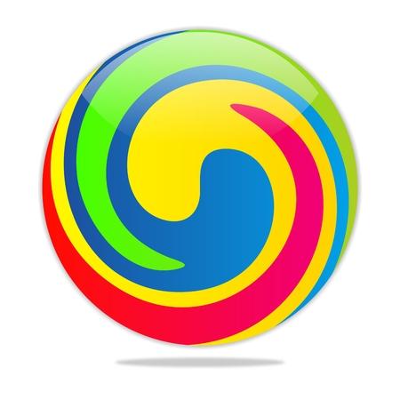 circulating: colorful ball