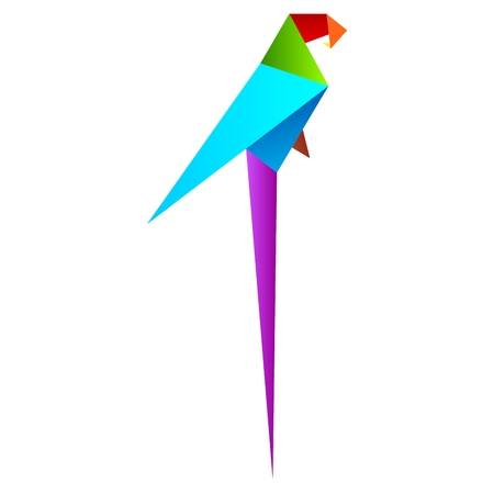 macaw: parrot geometric, parrot origami, macaw origami, macaw geometric
