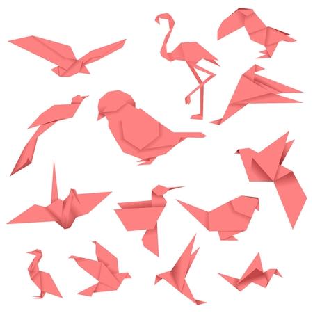 Bird Origami (Red)