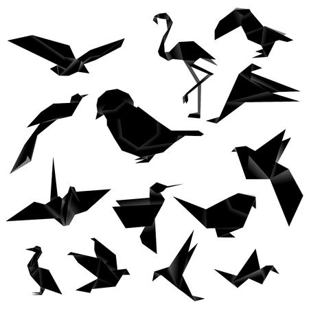 Bird Origami (Black)
