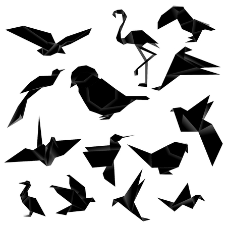 hornbill: Bird Origami (Black)