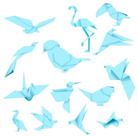 Bird Origami (Blue)