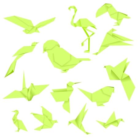 Bird Origami (Green)