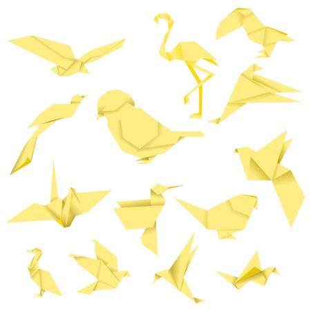 Bird Origami (Yellow)