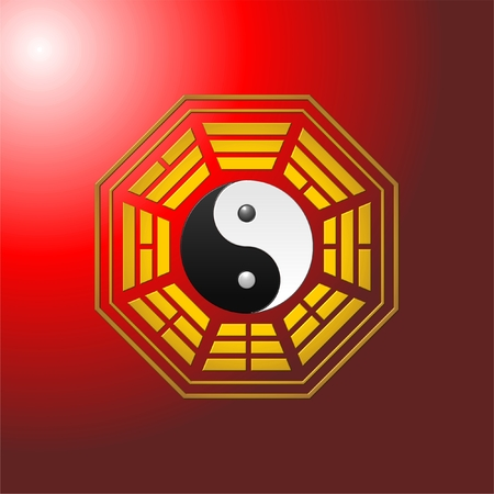 eight trigrams, bagua, fengshui 向量圖像