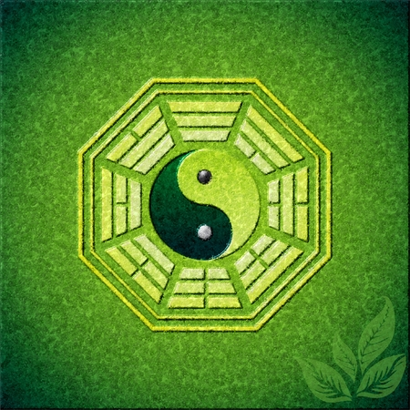 taoism: eight trigrams, bagua, fengshui Illustration