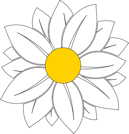 white daisy: daisy, chamomile, white daisy, daisy pattern, daisy icon Illustration