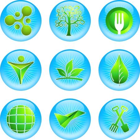 environmental science: Green Icon Illustration
